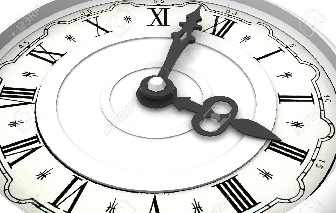 Clock Three o clock 3d Stock Photo